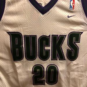 Milwaukee Bucks NBA Basketball Jersey #20 Payton